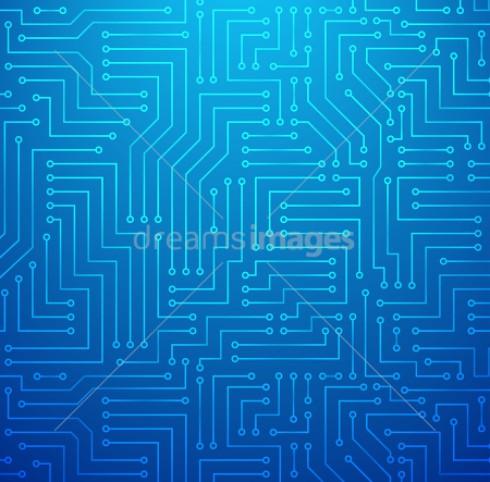 Futuristic Shining Light Blue Technology Background – Printed ...